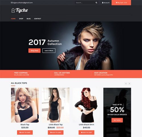 theme bán hàng wordpress Tyche woocommerce