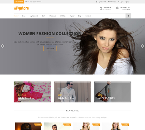 theme bán hàng wordpress WP Store Justfreethemes