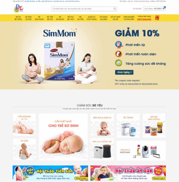 Theme wordpress bán hàng mẹ và bé M49