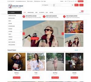theme wordpress bán hàng miễn phí Online Shop