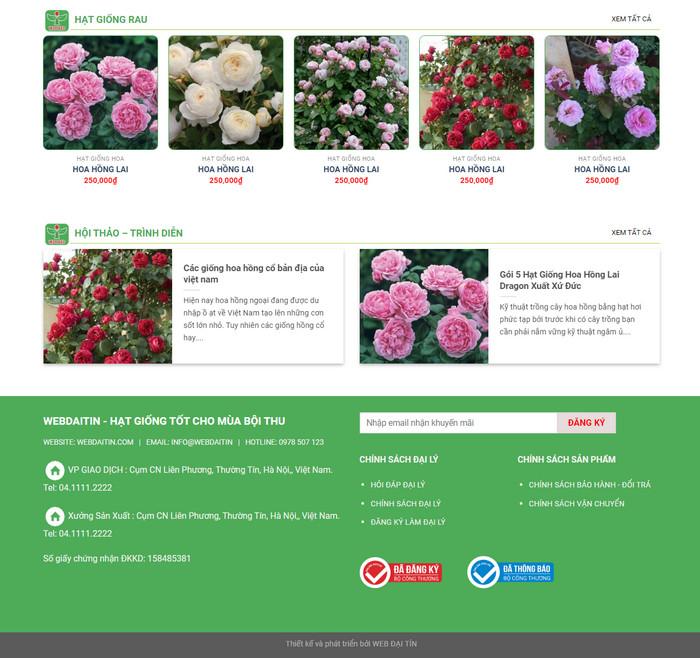 Theme wordpress bán hoa, cây giống M41 hình số 2