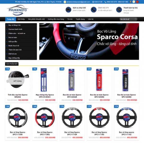 Theme wordpress bán hàng phụ kiện ô tô M44