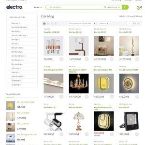 Theme wordpress bán đèn, thiết bị điện tử M65