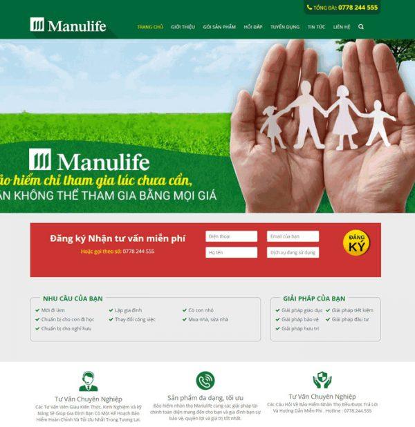 Theme wordpress công ty dịch vụ tư vấn bảo hiểm M64
