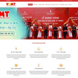 Theme wordpress công ty tổ chức sự kiện truyền thông M63