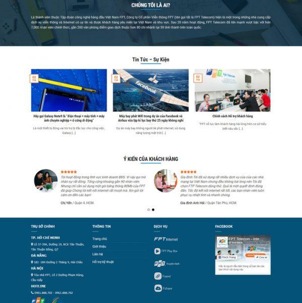 Theme wordpress công ty lắp đặt truyền hình mạng, internet hình số 2