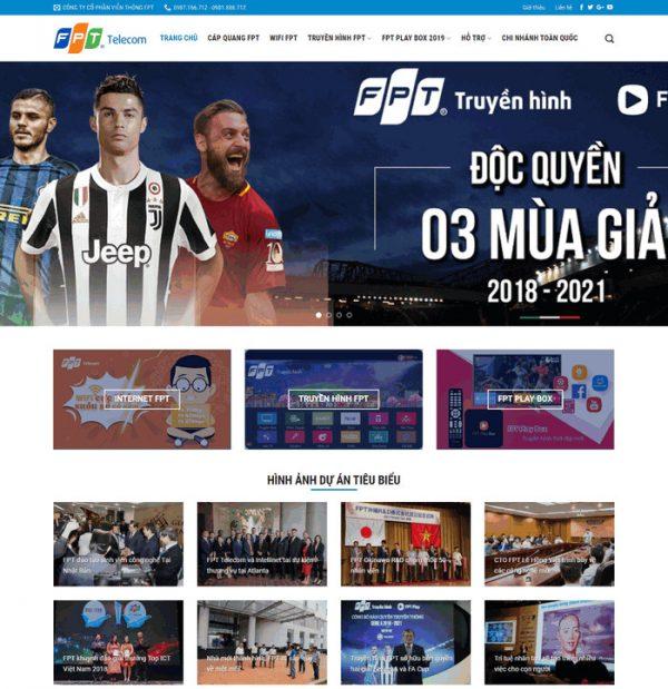 Theme wordpress công ty lắp đặt truyền hình mạng, internet M61