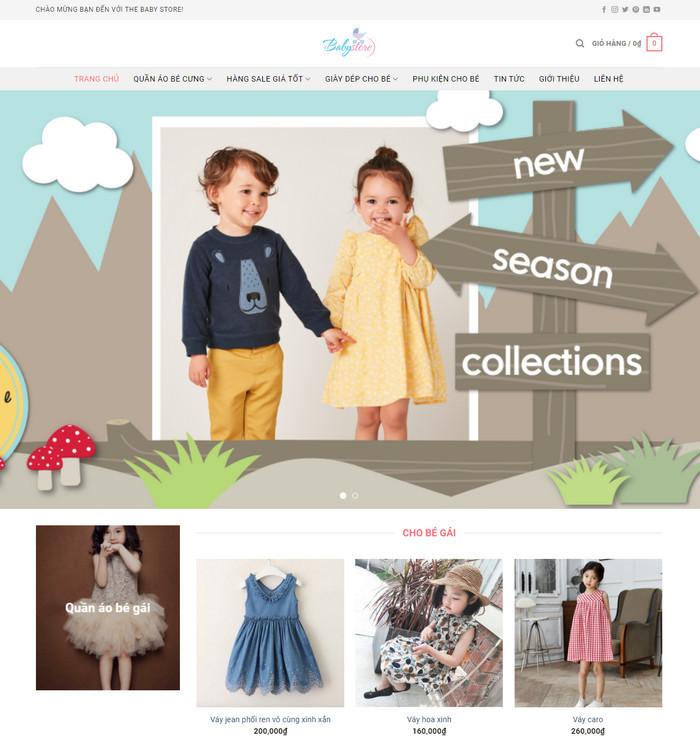 Theme wordpress thời trang, phụ kiện trẻ em M67