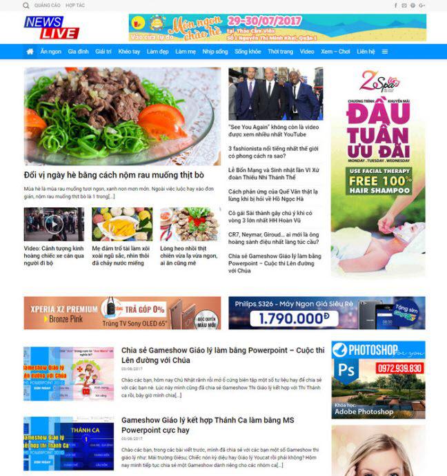 theme wordpress tin tức tạp chí blog