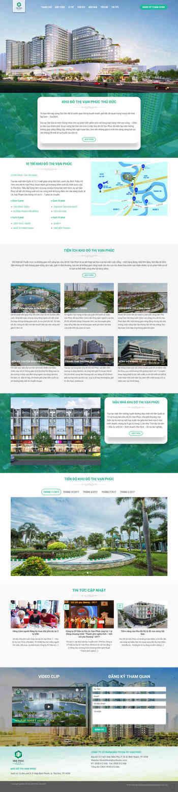 Theme bất động sản wordpress landing page M78 hình 2