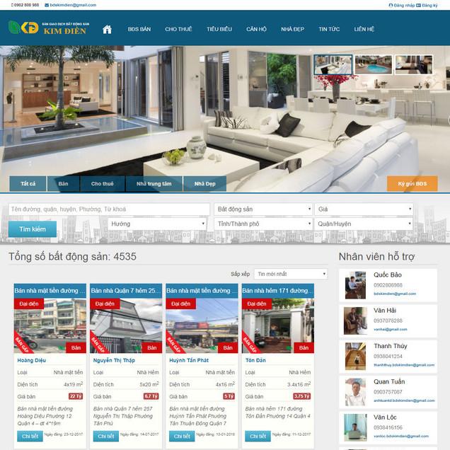 Theme wordpress mua bán nhà đất bất động sản giao diện cực đẹp M101 hình 2
