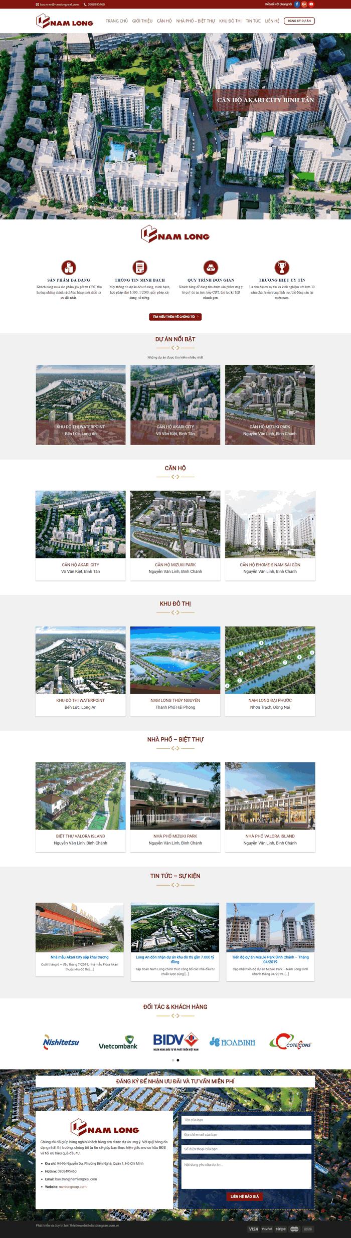 Theme wordpress bất động sản tổng hợp đầy đủ chất lượng M93