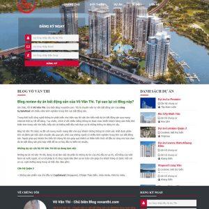 Theme wordpress bất động sản blog cá nhân M73