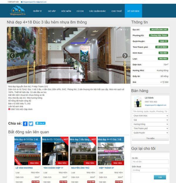 Theme wordpress mua bán nhà đất bất động sản hình 2