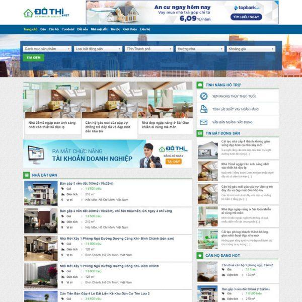 Theme wordpress mua bán nhà đất, cho thuê cực đẹp M91 hình 2