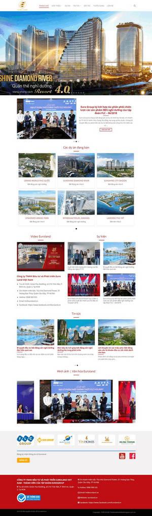 Theme wordpress bất động sản công ty, sàn giao dịch M74 hình 2