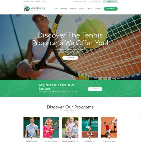 Tennis Today - Theme wordpress lĩnh vực thể thao Tennis 200k