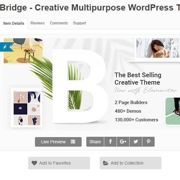 Bridge - Theme wordpress đa lĩnh vực TOP bán chạy nhất thế giới