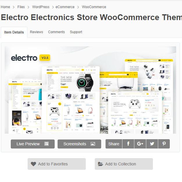 Electro Electronics - Theme wordpress bán hàng linh phụ kiện điện máy chỉ 200k