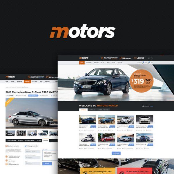 Motors - Automotive Theme wordpress mua bán cho thuê Ô tô 200k