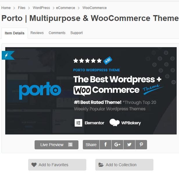 Porto - Theme wordpress bán hàng cực đẹp rất được ưa chuộng chỉ 200k