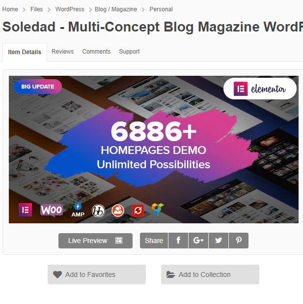 Soledad - Theme wordpress tin tức mới siêu HOT với hơn 6886 Demo chỉ 200k