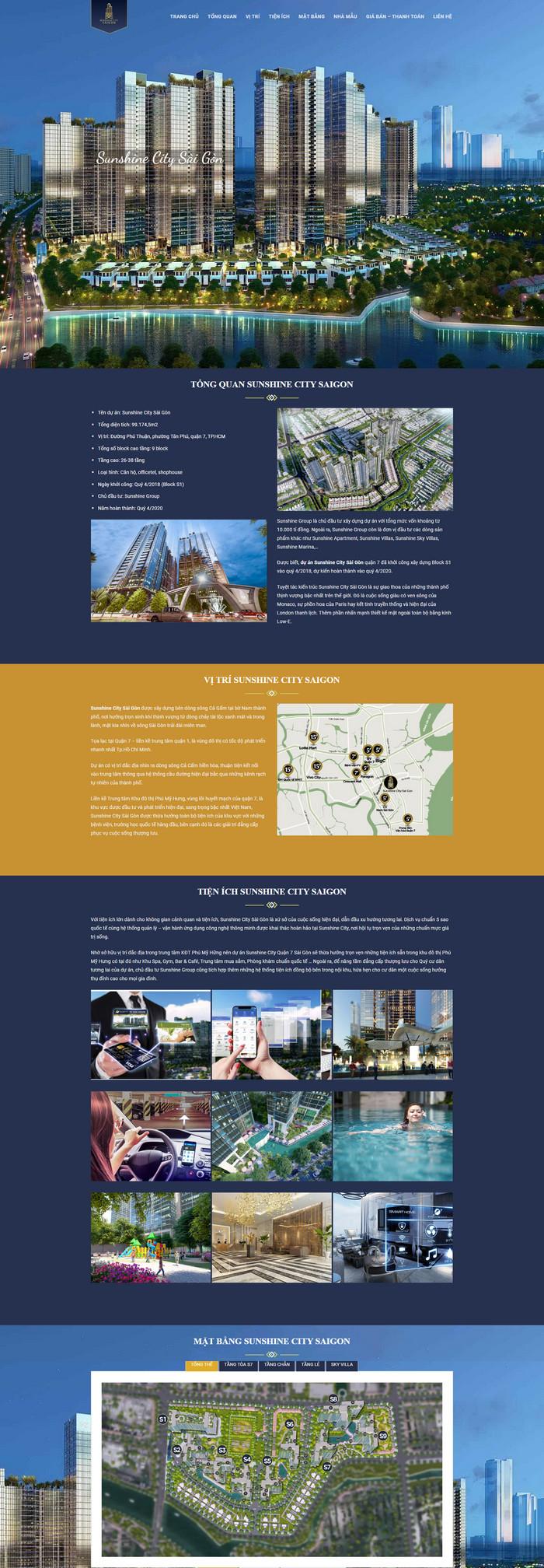 Theme wordpress bất động sản landing page đẳng cấp M102 hình 2