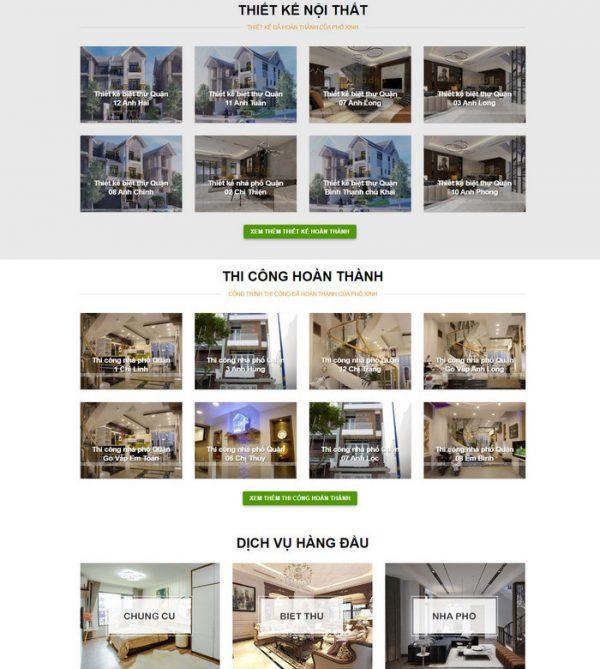Theme wordpress thiết kế thi công nội thất xây dựng M106 hình số 2