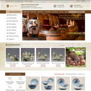 Theme wordpress bán gốm sứ đồ cổ