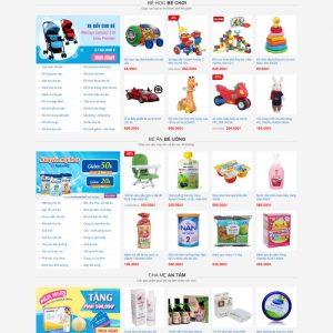 Theme wordpress bán hàng mẹ và bé M49 hình số 2