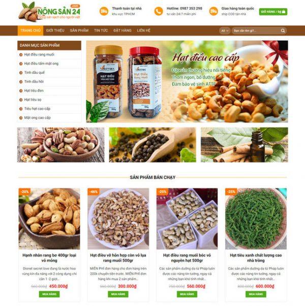 Theme Wordpress bán hàng Hạt Dinh Dưỡng M117