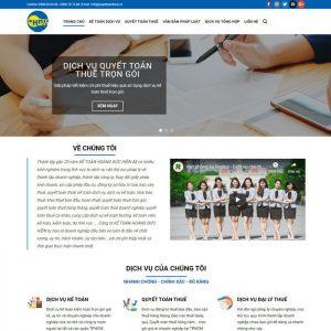 Theme Wordpress Công ty dịch vụ Kế Toán Kiểm Toán M121