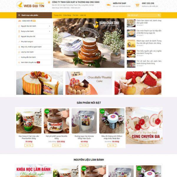 Theme Wordpress bán hàng nguyên liệu Bánh Kẹo Thực Phẩm M116