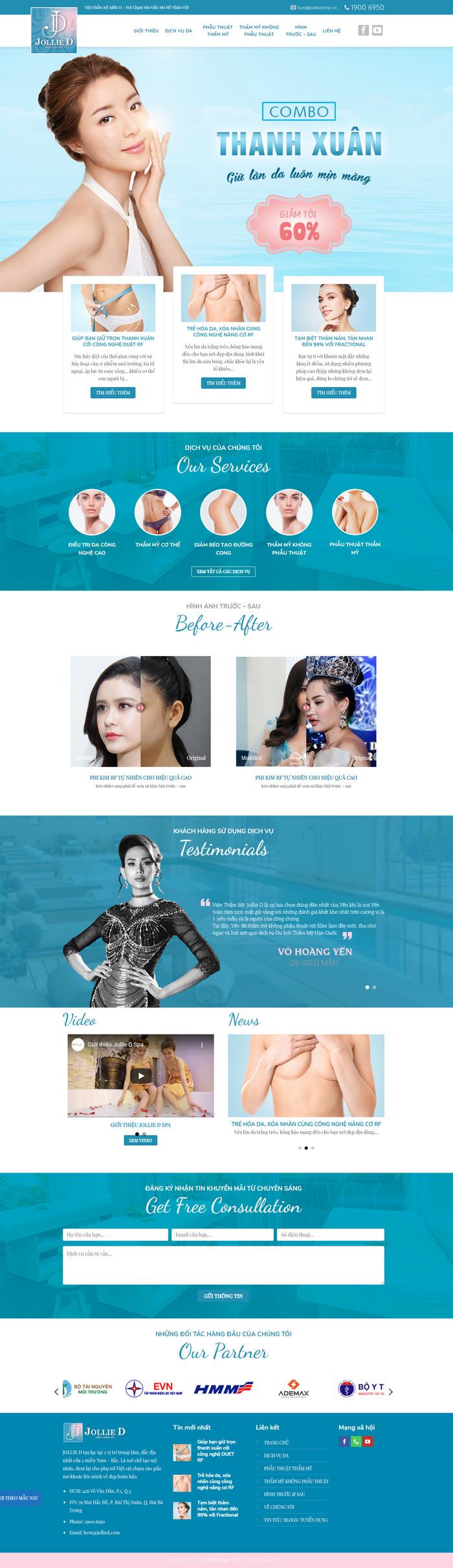 Theme WordPress Spa thẩm mỹ M109 hình số 2