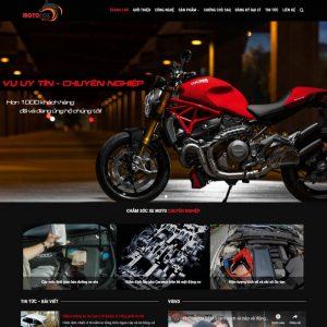 Theme Wordpress Dịch vụ Chăm Sóc Xe Moto, Ô Tô M120