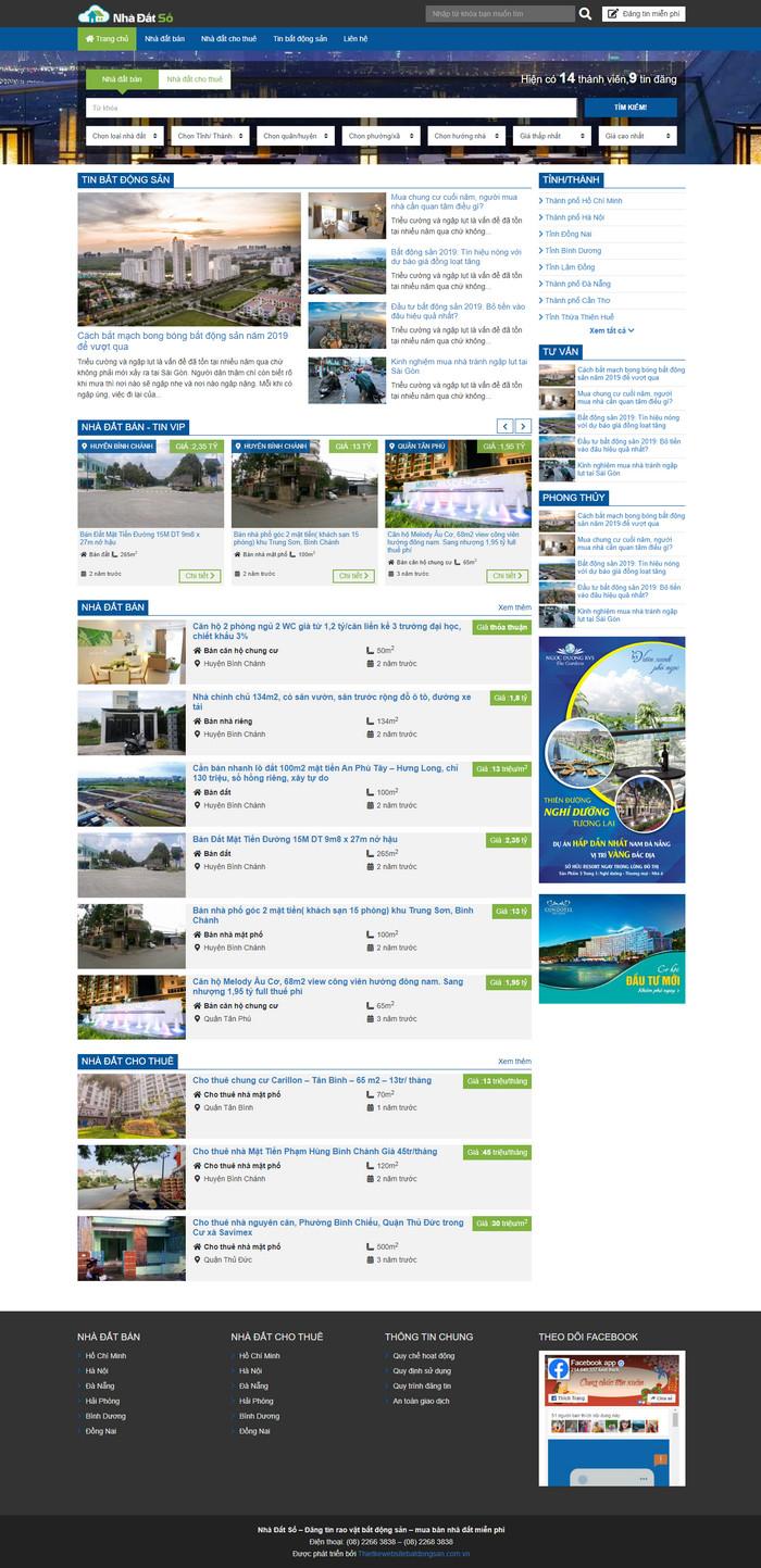 Theme WordPress bất động sản rao vặt đăng tin nhà đất tuyệt đẹp M113