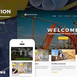 Construction - Theme wordpress xây dựng kiến trúc Số 1 hiện nay