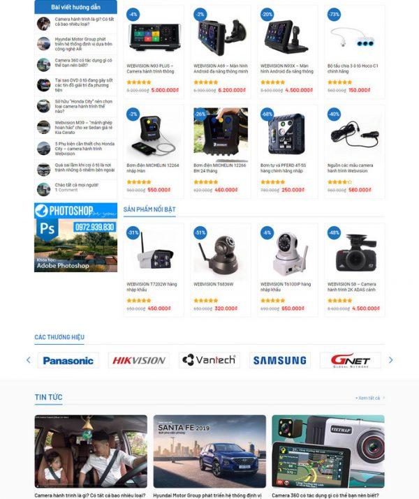 Theme Wordpress bán Camera, Màn hình DVD M178 hình 3