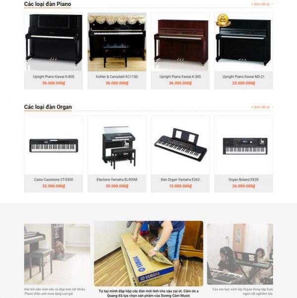 Theme Wordpress bán Đàn, Dạy Học Đàn hình số 3