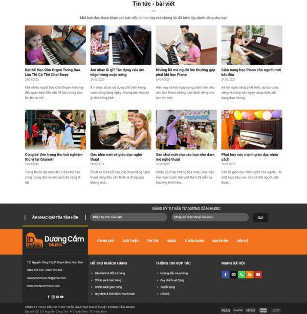 Theme Wordpress bán Đàn, Dạy Học Đàn hình số 4