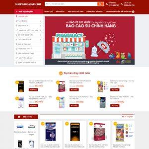 Theme Wordpress bán hàng Bao Cao Su Đồ Chơi 18+ M136 hình 2