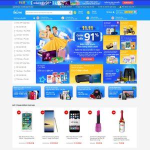Theme Wordpress bán hàng thương mại điện tử giống Tiki M137 hình 2