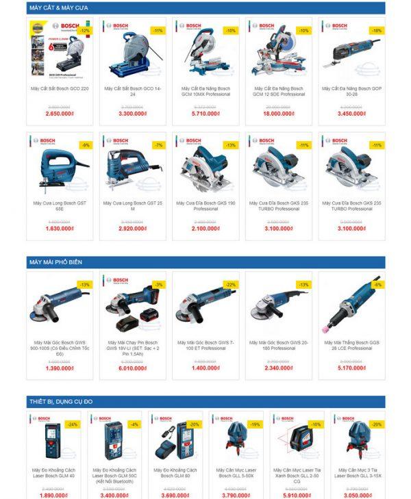 Theme Wordpress bán Máy Khoan, Máy Cưa, Máy Cắt, Thiết bị M145 hình 3