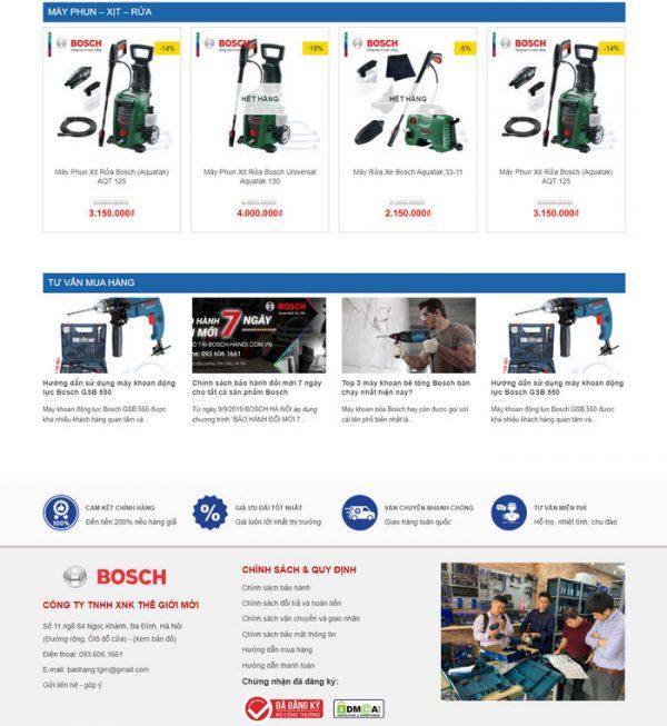 Theme Wordpress bán Máy Khoan, Máy Cưa, Máy Cắt, Thiết bị M145 hình 4