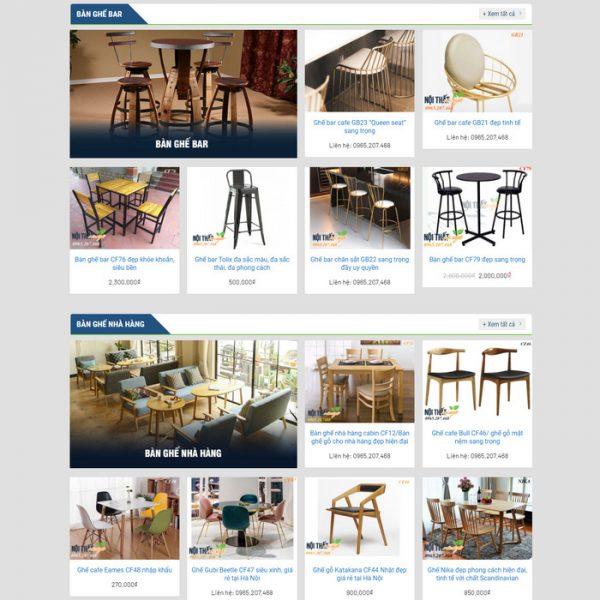 Theme Wordpress bán hàng Nội Thất Bàn Ghế M157 hình 2