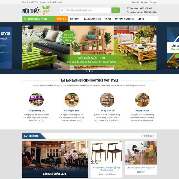 Theme WordPress bán hàng Nội Thất Bàn Ghế M157