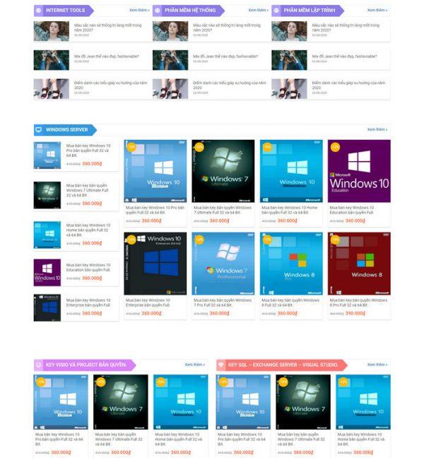 Theme Wordpress Bán Phần Mềm Ứng Dụng M141 hình 3