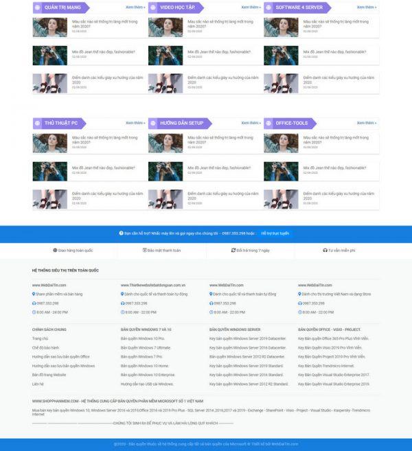 Theme Wordpress Bán Phần Mềm Ứng Dụng M141 hình 5