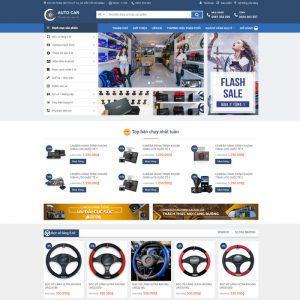 Theme Wordpress bán hàng Phụ Kiện Ô Tô, Điện Tử M130 hình 2