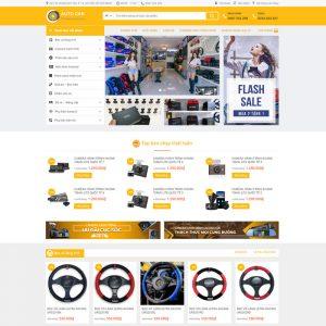 Theme Wordpress bán hàng Phụ Kiện Ô Tô, Điện Tử M130 hình số 2